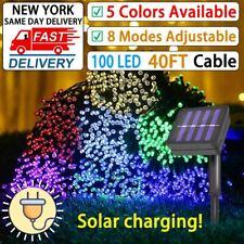 100 Led Solar String Lights Solar Powered Christmas Fairy String 40FT Lamp