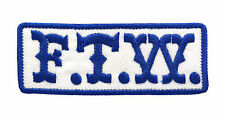 MC F.T.W. BLUE EMBROIDERY BIKER PATCH