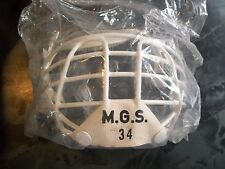 VINTAGE NEW IN WRAPPER M.G.S. 34 LOWER JAW GUARD HOCKEY CAGE MASK VERY RARE