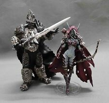 WOW WORLD WARCRAFT LICH KING ARTHAS MENETHIL FORSAKEN QUEEN SYLVANAS FIGUR