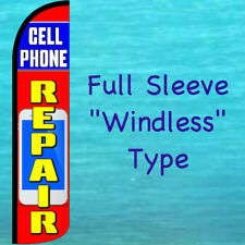 CELL PHONE REPAIR WINDLESS FEATHER FLAG Advertising Sign Swooper Flutter Banner
