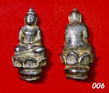Phra Ayuttaya Sit Lotus Magic Thai Amulet Buddha Old Talisman Pendant RARE 006