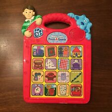 Vintage Blues Clues Toy Kids Press And Guess Music Talking Game Tyco