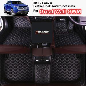 3D Moulded Waterproof leather look Car Floor Mat for Great Wall Canonn GWM Black