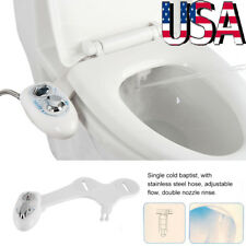 Dual Nozzle Cold Water Spray Non-Electric Cleaning Bidet Toilet Seat Attachment