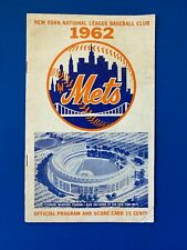 "1962 NY METS PROGRAM/SCORECARD -  ""METS WIN"" - RARE DOUBLEHEADER SWEEP vs REDS"