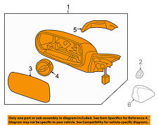 HYUNDAI OEM Genesis Coupe Outside Mirrors-Door-Mirror Assembly Right 876202M100