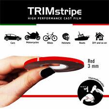 Trim Stripes Strisce Adesive per Auto, Rosso, 3 mm x 10 Mt