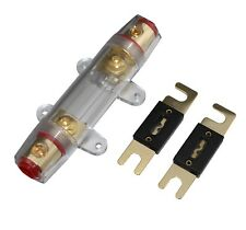 Anl Fuse Holder Distribution Inline 0 4 8 Ga Gold Plated Free 500A Fuses Skfh099