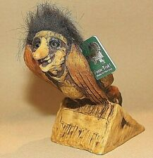 """Fosse Ski Jumping Troll 8"""" Hand-Painted Nyform Poly-resin Retired W/Tag Vintage"""