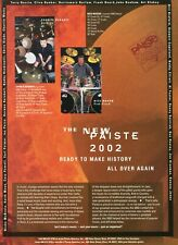 1995 Print Ad of Paiste 2002 Drum Cymbals w Charlie Benante Anthrax & Nick Mason