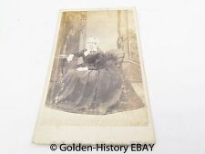 LADY IN HUGE DRESS HOOPED SHATTOCK VICTORIAN CDV CARD CABINET PHOTO PHOTOGRAPH