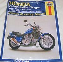 Haynes Workshop Manual HONDA VF V45 V65 VF700 VF750 & VF1100 1982-88 Sabre Magna