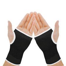 2 Black Elastic Wrist Glove Palm Wrist Hand Support Arthritis Brace Sleeve NHS