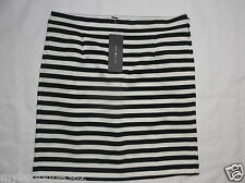 TOMMY HILFIGER BLACK AND WHITE WOMENS STRAIGHT SKIRT SIZE 2 NEW WITH TAG