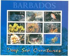 STAMPS - BARBADOS 2001 - FISH