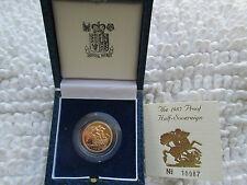 1985 United Kingdom Half-Sovereign Gold Proof 22K 3.99 Gram Britian Engl Box COA