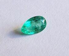Smaragd  Emerald  Tropfen  Birn 1,00 Carat   8,5 x 6,5 mm