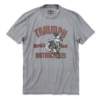 Lucky Brand - Men's XL - NWT $49 - Distressed/Faded Gray Triumph Motorcycle Tee