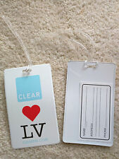 NEW Clear Airport Security loves Las Vegas Luggage Tag, SET OF 2