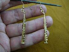 (M201-D) SOPRANO Sax Saxophone I love my saxophones music gold Earrings JEWELRY