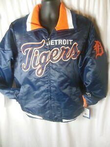 Detroit Tigers MLB Men's Quilt Lined Front Zipper Starter Jacket Large