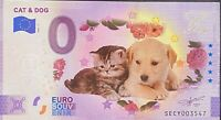 BILLET 0  EURO CAT ET DOG   COULEUR  ITALIE 2021  NUMERO DIVERS
