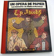 LES MEMOIRES DE BLAKE ET MORTIMER OPERA DE PAPIER GALLIMARD JACOBS 1981 NEUF