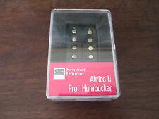SEYMOUR DUNCAN ALNICO II PRO HUMBUCKER GUITAR PICKUP - BLACK - NECK - NEW APH-1N
