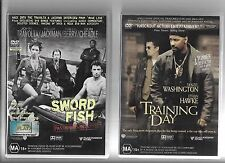 4 x Action DVDs, Swordfish, Training Day, Way Of The Gun, Out Of Sight