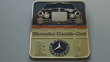 Mercedes W111 W112 W109 W108 Coche Clásico parrilla insignia emblema insignia Vintage