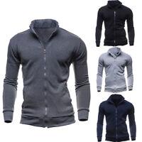2019 Men's Slim Fit Stand Collar Coat Tops Military Jacket Winter Outwear Blazer