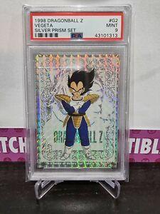Dragon Ball Z 1998 VEGETA, SILVER PRISM SET PSA 9 POP 3