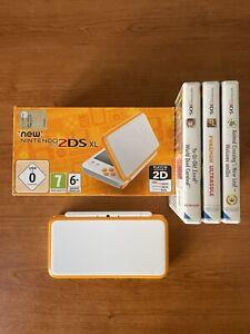 Nintendo 2DS XL Bianco/Arancio con Animal Crossing e Pokemon ultrasole