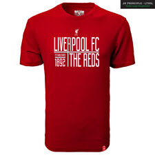 LIVERPOOL FC YOUTH T-SHIRT THE REDS LOGO SIZES SMALL-XL OFFICIALLY LICENSED