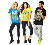 Zumba Fitness World Tour World is Our Dance Floor Tees Shirts Green One Size NEW