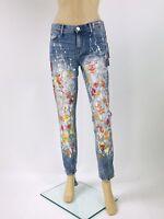 $249 Pop Art True Religion Women Jeans Paint Splatter Slim Boyfriend 26 27 28 29