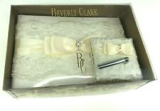 Beverly Clark Collection Decorative Wedding Guest Sign-In Book + Pen Stand, Bow