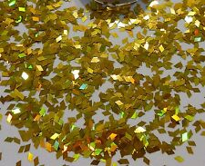 "Nail Art ""Gold Diamond"" Colour-Changing Holographic Pot Spangle Glitter Deco"