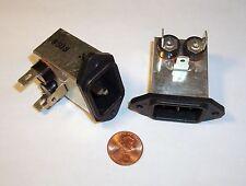 Qty 2: Quality AC Power Line Noise Filter 120V/240V 3A EMI IEC NOS Right Angle