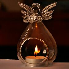 Crystal Glass Candle Holders Angel Vases Home Wedding Decorations Accessories