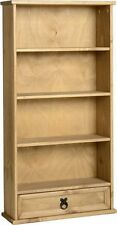 Seconique CORONA Distressed Mexican Pine 1 Drawer DVD Rack