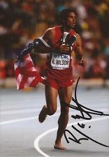 Atletica leggera: Ryan WILSON firmato 6x4 Celebration foto + COA * USA *