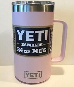 ICE PINK 24 oz YETI Rambler Mug Tumbler With Handle Beer Coffee Cup STAINLESS