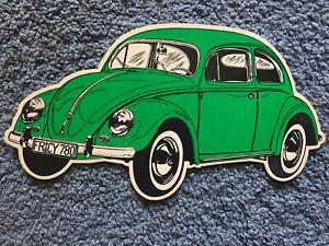 Vintage Green VW Volkswagen Coccinelle Postcard Beetle Bug Unused Thick Stock