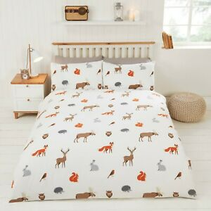 COUNTRY  ANIMALS DOUBLE DUVET COVER SET