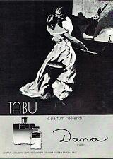 C- Publicité Advertising 1966 Parfum Tabu De Dana