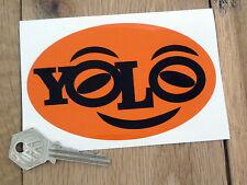 """Ala que se vive una vez coche o furgoneta calcomanía 5 """"Oval Funny Laptop Naranja"""