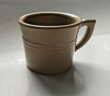 Vintage MONMOUTH Pottery USA Stoneware Tan / Light Brown Speckled Mug Cup