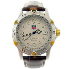 TAG HEUER 1500 SERIES WD1221-K-20 PROF SANDY DIAL 2-TONE G.P.+S.S. MIDSIZE WATCH